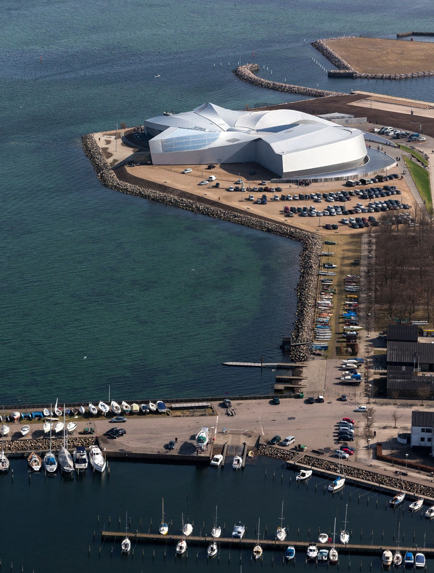 Blue Planet Aquarium aerial