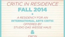 Critic in Residence_Fall 2014
