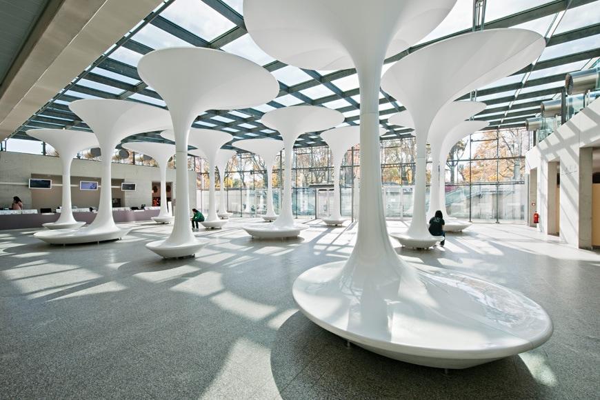 Museum Entry Foyer : Entrance foyer for tmw vienna querkraft architects