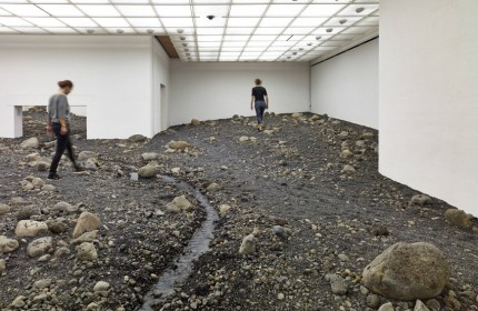 Olafur Eliasson Riverbed exhibition Louisiana museum of art 06