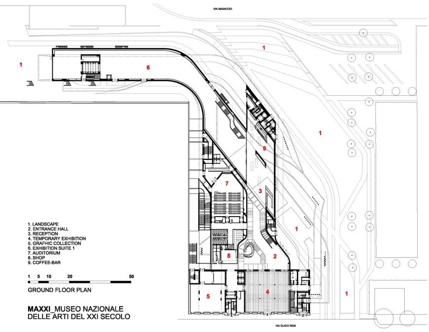 Maxxi Museum Floor Plan Zaha Hadid The Maxxi Museum Rome