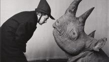 kunsthal-halsman-salvador-dali-rhinoceros-1956