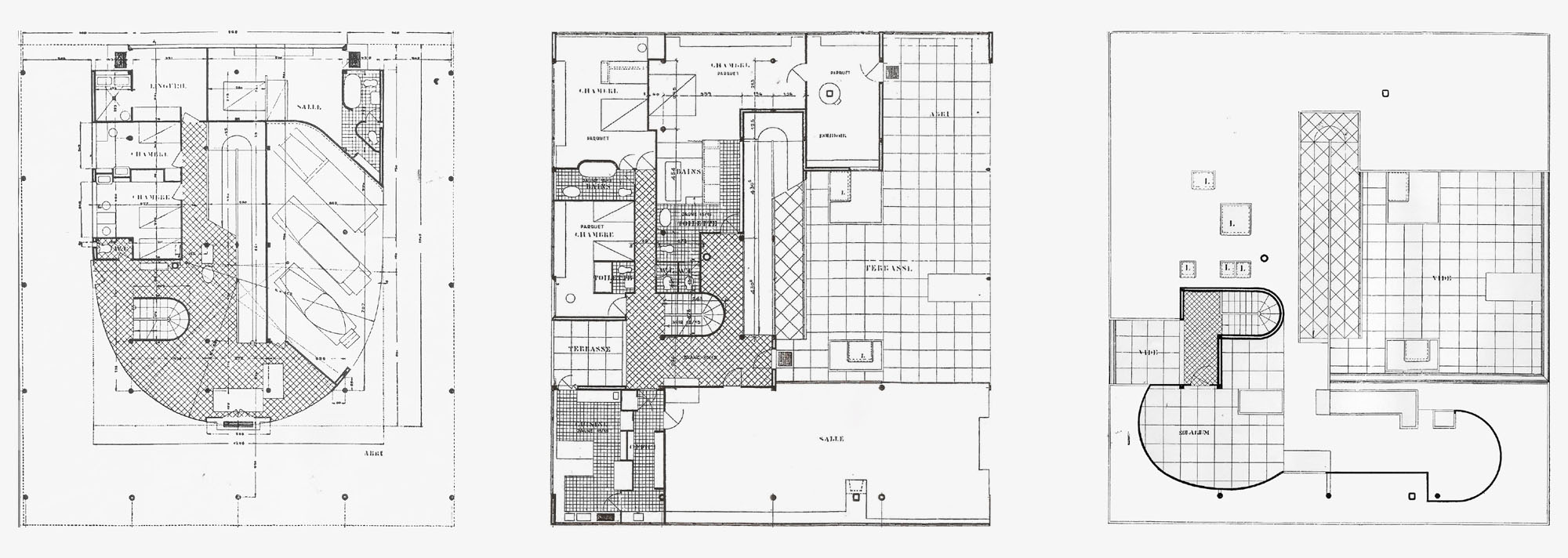Le corbusier villa savoye part 2 architecture for Villa floor plans