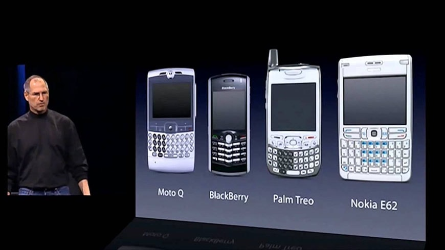 January 9, 2007, Steve Jobs compares the iPhone with other high-end ...