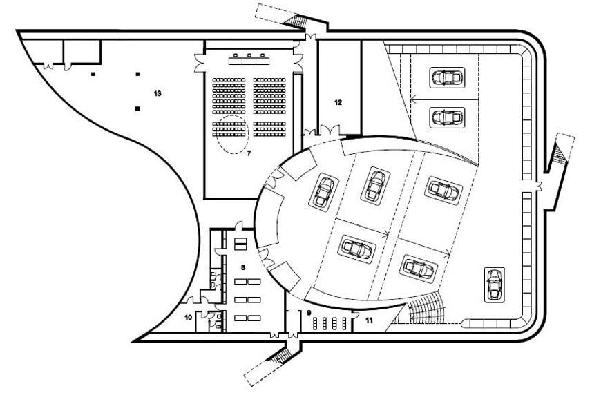 Enzo Ferrari Museum Modena Future Systems plan