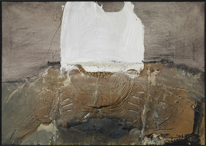 Antoni Tapies Forma Blanca painting MACBA Barcelona collection