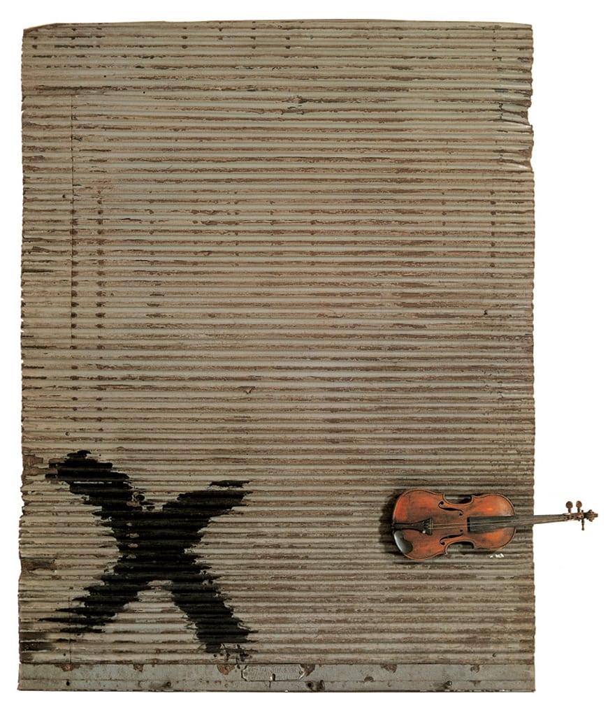 Antoni-Tapies-porta-metallica-i-violi-1956