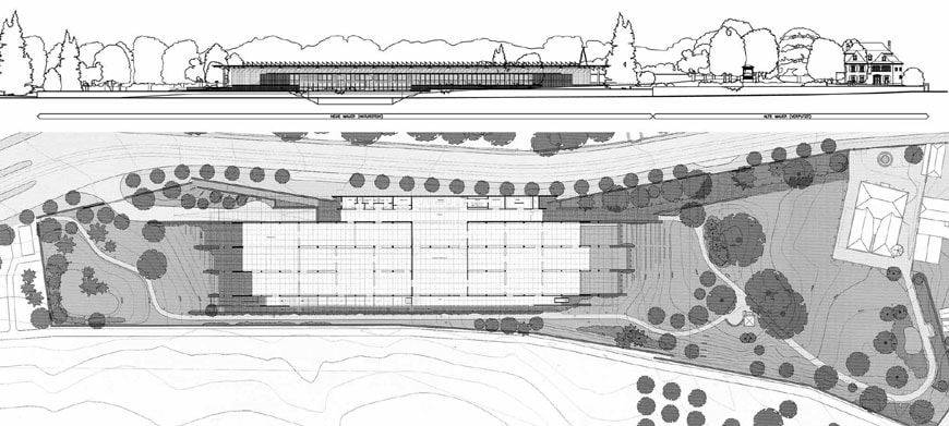 Beyeler Foundation Renzo Piano plan and elevation