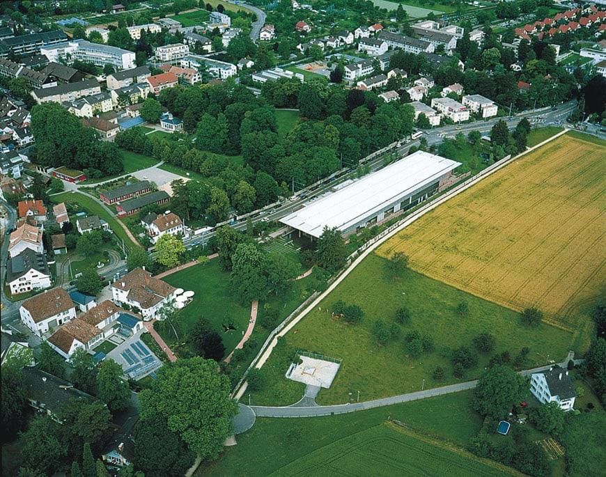 Fondation Beyeler Riehen Basel aerial view