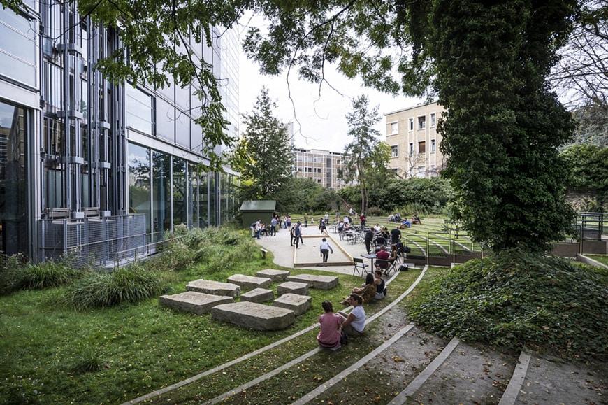 Fondation Cartier Paris garden Lothar Baumgarten