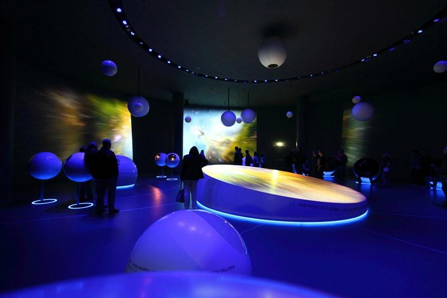 Globe Science Innovation timber pavilion CERN interior 5
