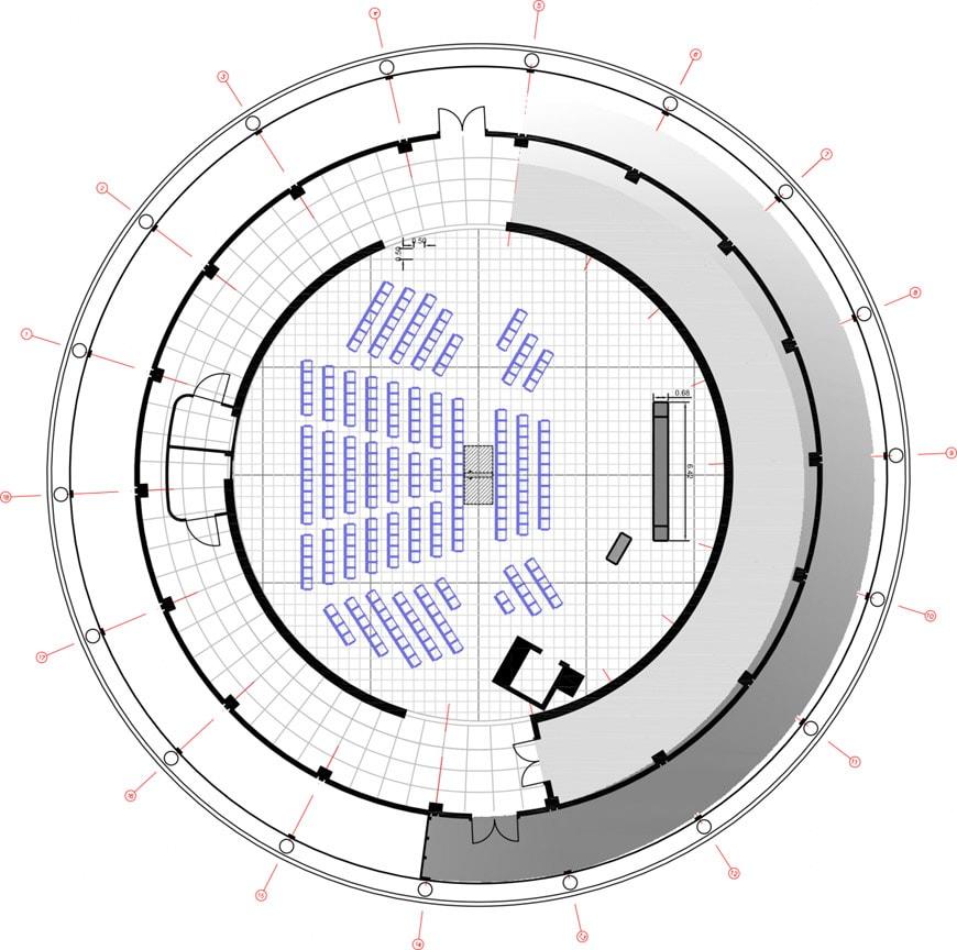Globo Scienza Innovazione CERN Ginevra sezione pianta
