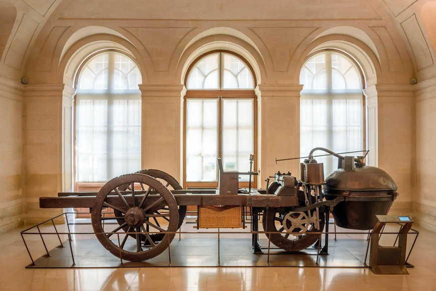 Joseph-Cugnot-first-self-propelled-vehicle-in-history-Musée-Arts-Métiers-Paris