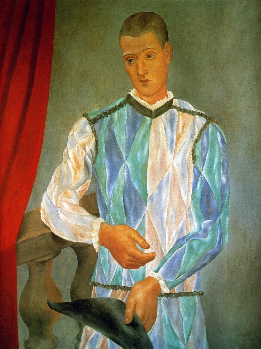 Pablo Picasso Harlequin 1917 Barcelona