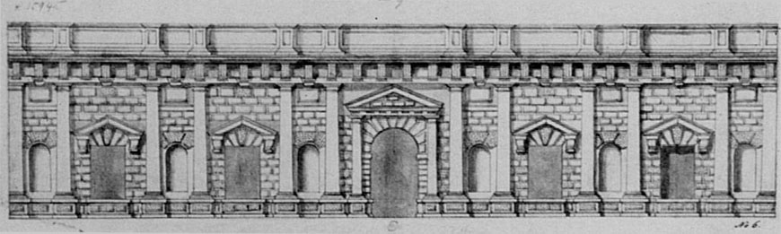 Palazzo Te Mantova elevation drawing 2