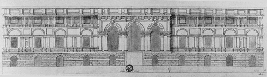 Palazzo Te Mantova elevation drawing 3