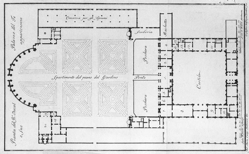 Palazzo Te Mantova plan