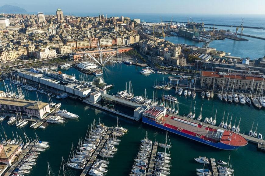 Porto Antico Genova vista aerea