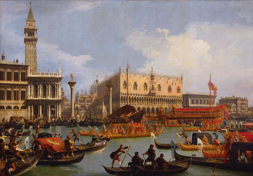 Doge's Palace Venice Canaletto painting