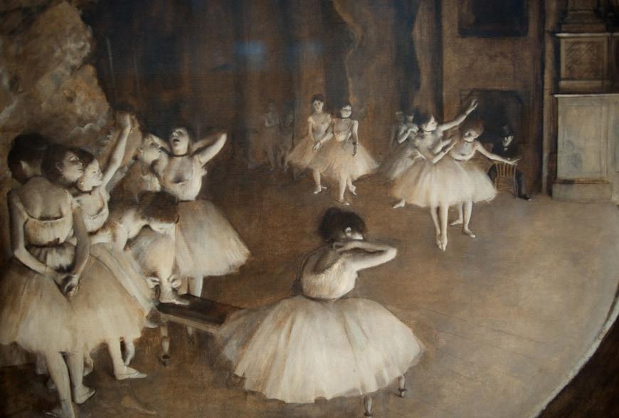 Edgar Degas Ballet reharsal Musée d'Orsay Paris