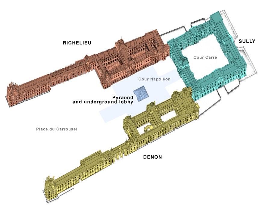 Louvre museum Paris plan