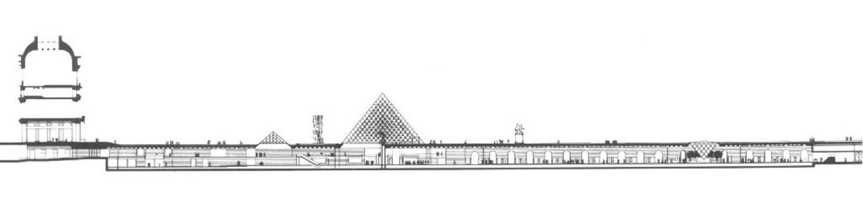 Louvre phase 2 longitudinal section