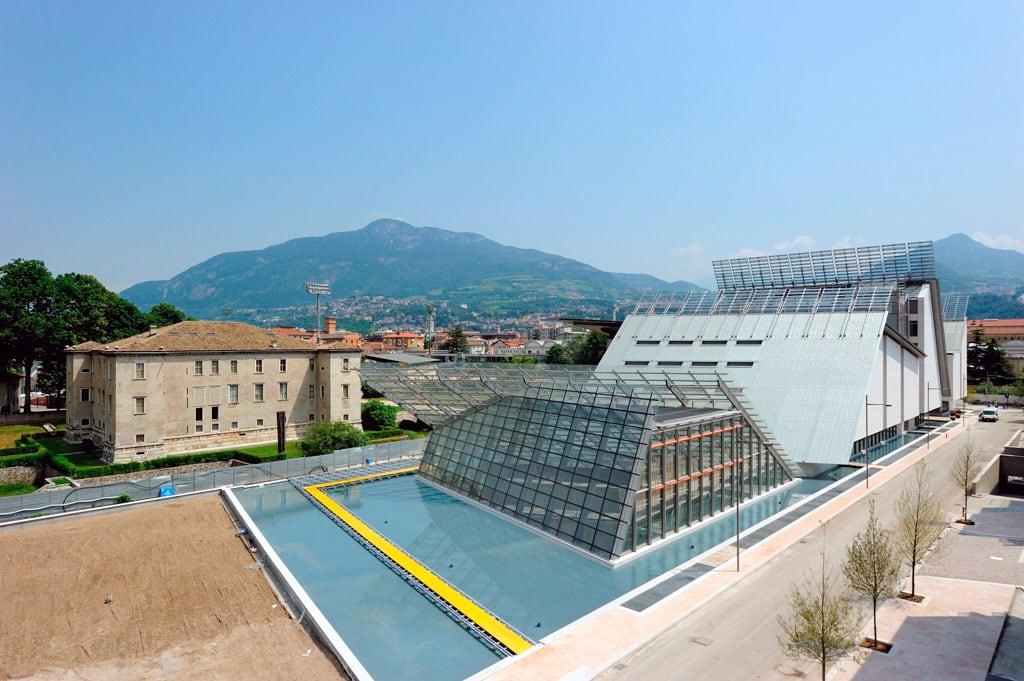 MUSE museum Trento Renzo Piano bird eye view
