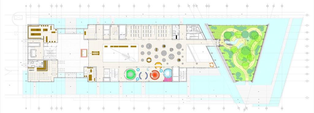 MUSE museum Trento Renzo Piano ground floor plan
