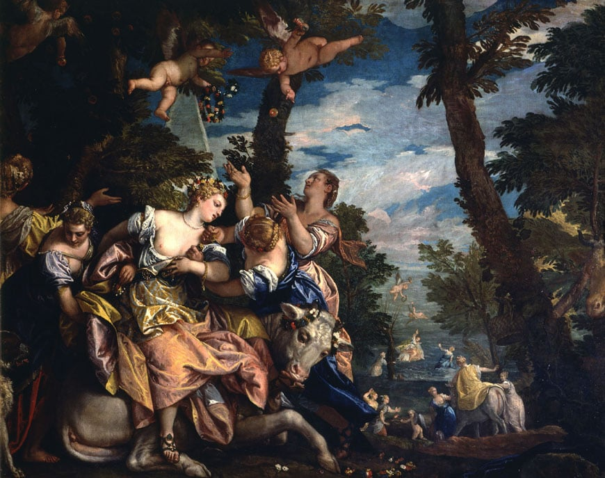 Paolo Veronese Rape of Europa painting Doge's Palace Venice