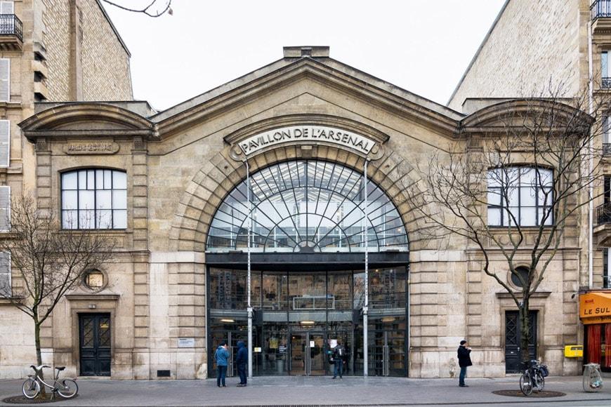 Pavillon Arsenal Architecture center Paris