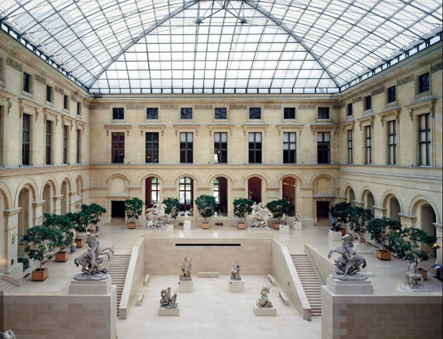 The Louvre museum Paris Cour Marly
