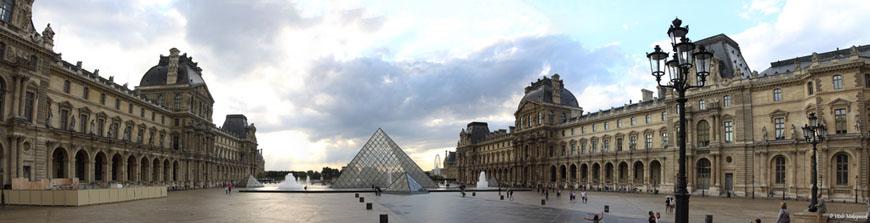 The Louvre museum Paris Cour Napoleon