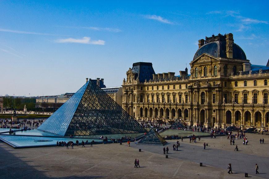 The Louvre museum Paris main court 01