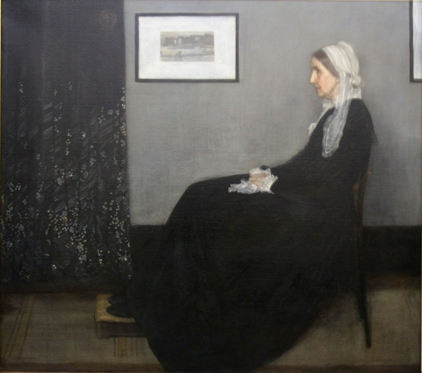 Whistler Portrait of the Artist's Mother Musée d'Orsay Paris