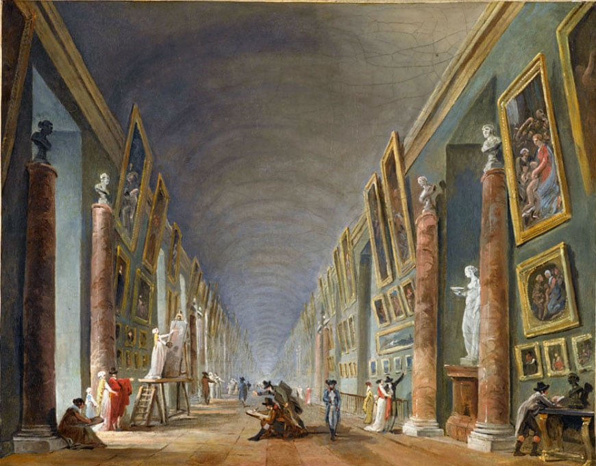 grande galerie du Louvre 1801