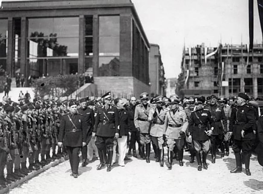 Ara Pacis museum inauguration Mussolini 1938
