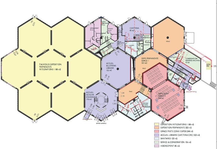 Fondation Vasarely Aix-en-Provence ground floor plan