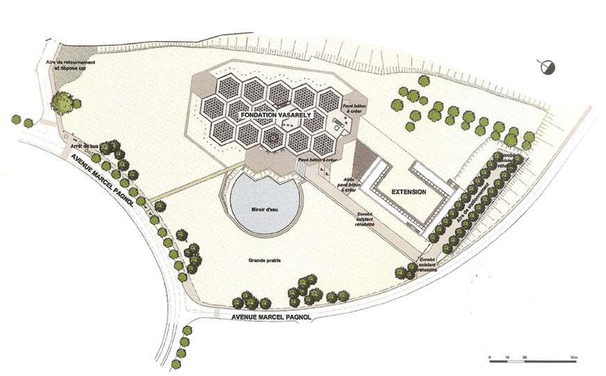 Fondation Vasarely Aix-en-Provence site plan 2
