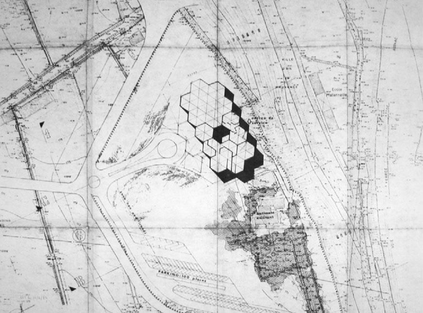 Fondation Vasarely Aix-en-Provence site plan