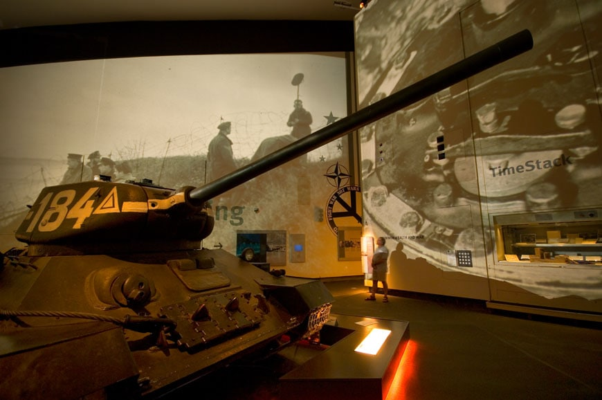 IWM Imperial War Museum North Manchester permanent exhibition 01