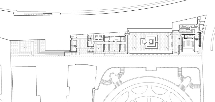 Museo-Ara-Pacis-museum-Rome-Richard-Meier-basement-level-plan