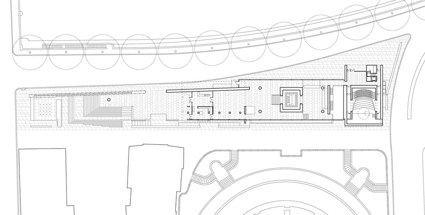 Museo-Ara-Pacis-museum-Rome-Richard-Meier-ground-floor-plan