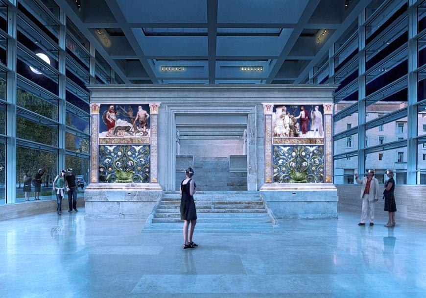 Museo Ara Pacis museum Rome augmented reality
