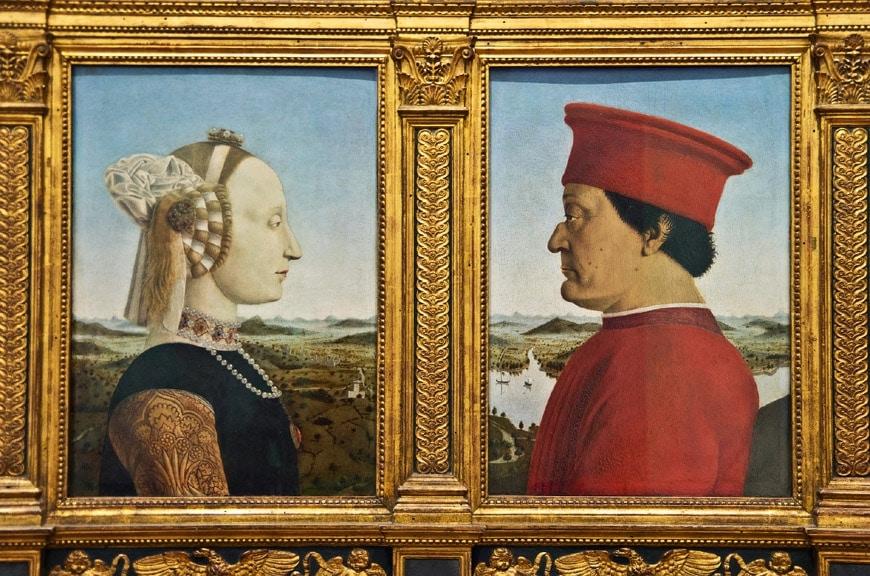 Piero della Francesca Uffizi Gallery Florence Galleria Uffizi Firenze