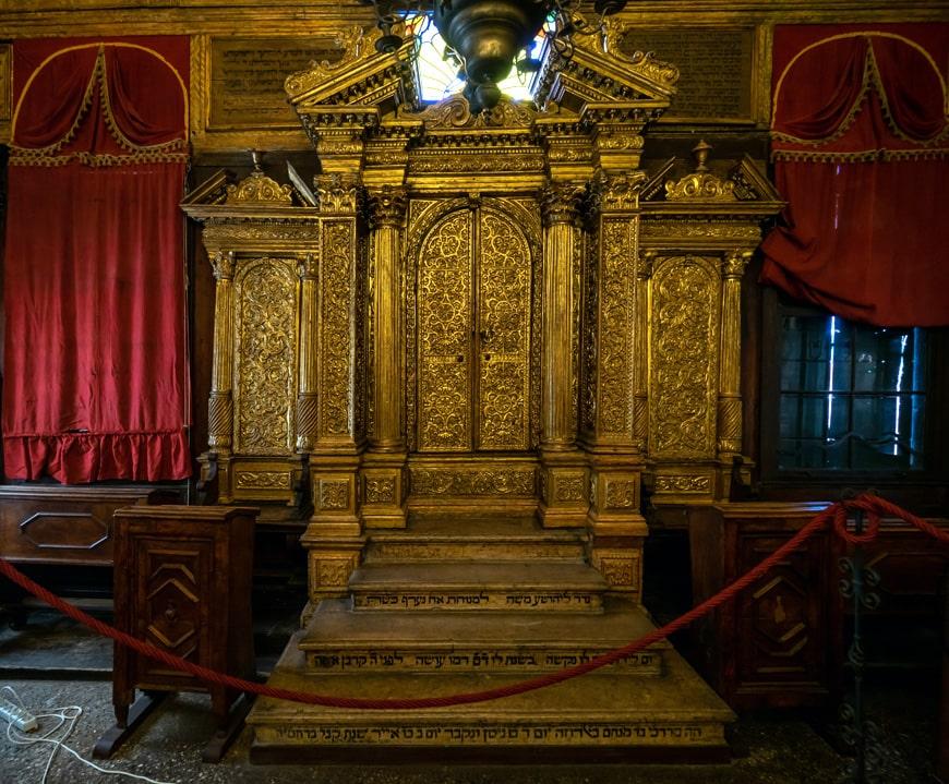 Baroque Aròn Ha Qòdesh, Canton Schola Jewish synagogue, Venetian Ghetto, Venice, Italy