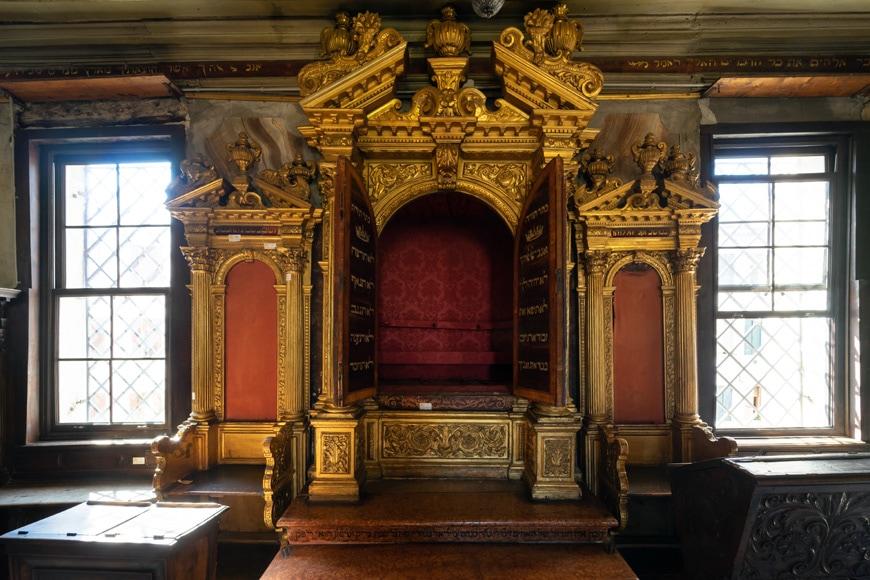 Baroque Aròn Ha Qòdesh, Great German Schola Jewish synagogue, Venetian Ghetto, Venice, Italy