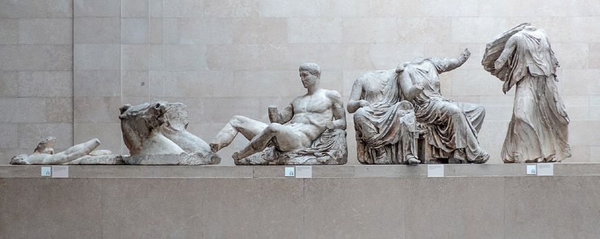 British Museum Londra sculture Partenone