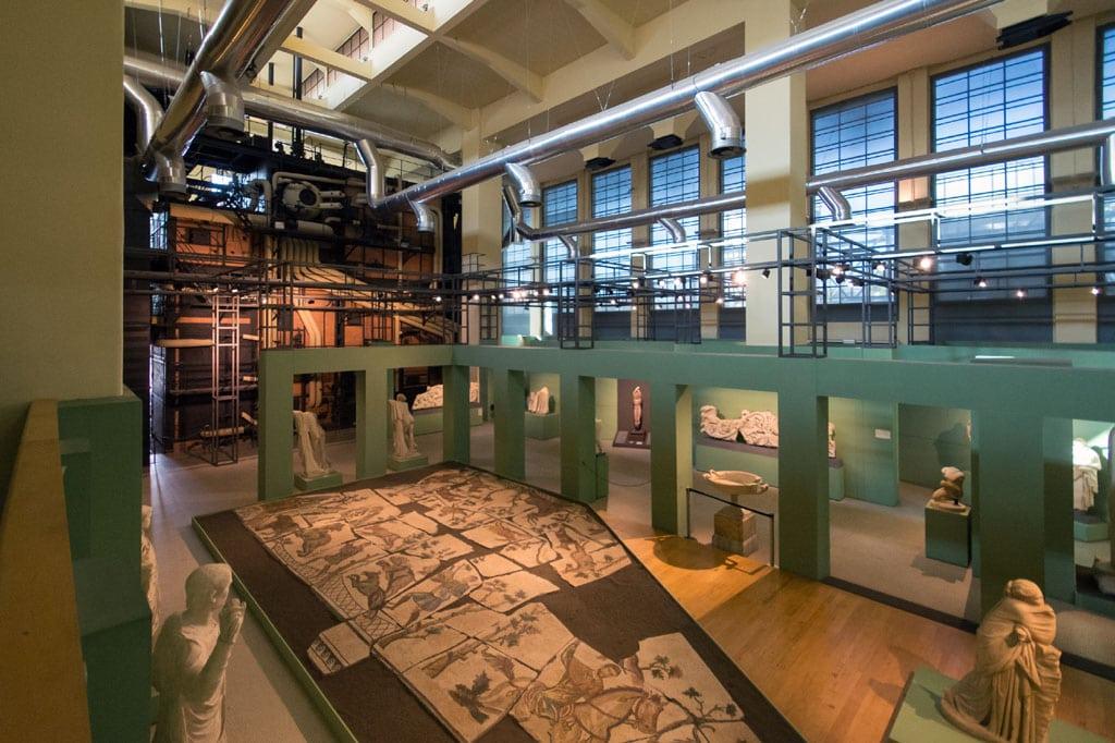 Centrale Montemartini Archaeological Museum Rome mosaics Inexhibit 08
