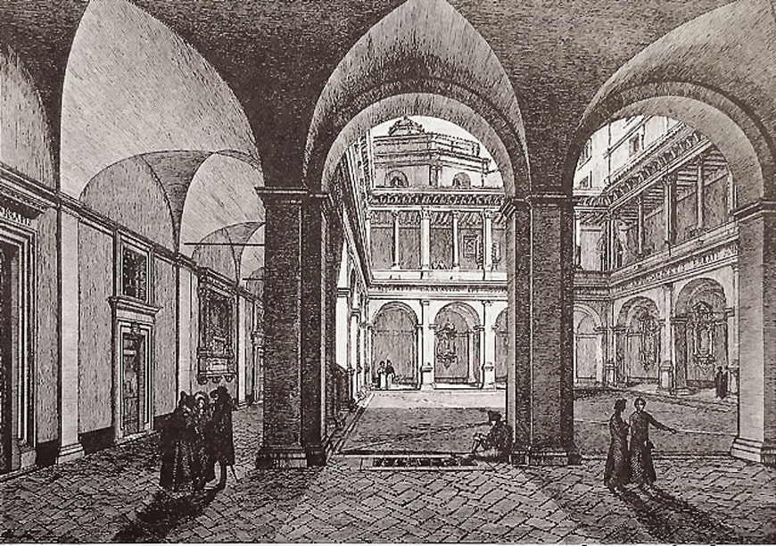 chiostro-bramnte-roma-etching