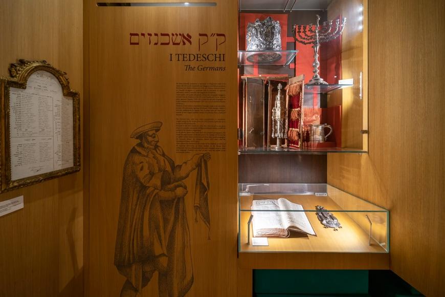 Permanent exhibition Jewish Museum Venice Ghetto